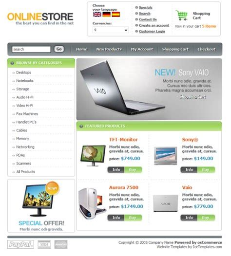 free store html templates 35 free high quality e commerce templates smashing magazine