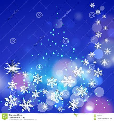 imagenes invierno navidad fondo azul del invierno abstracto con los copos de nieve