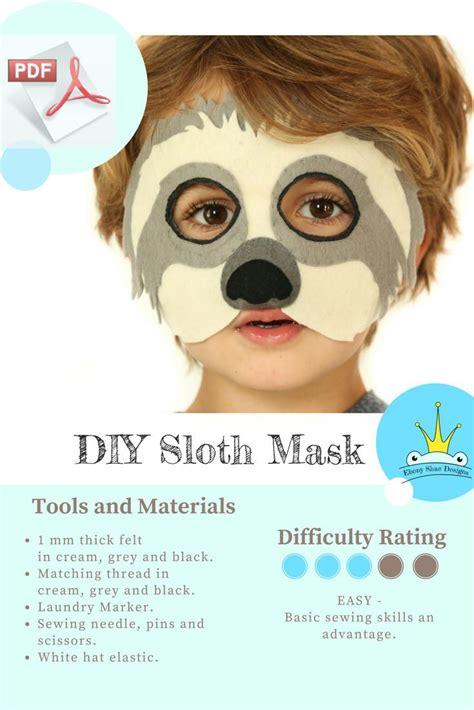 sloth mask template printable 1237 best make with felt images on pinterest felt fabric