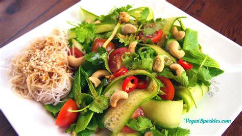 thai noodle salad vegan sparkles with rebecca weller