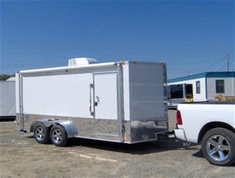 Enclosed Trailer Awning by 7x16 Enclosed Motorcycle Cargo Trailer A C Unit Awning