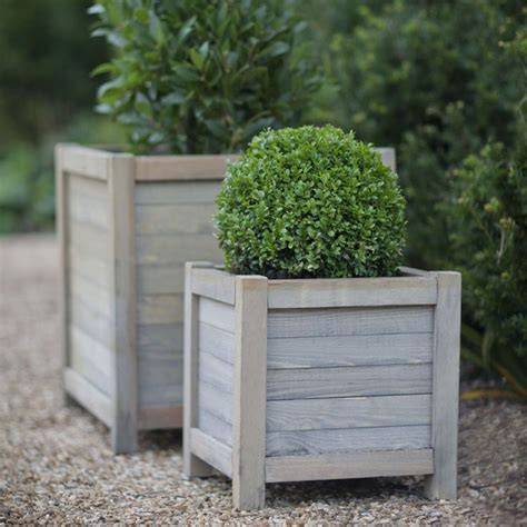 Wooden Garden Planters Ideas by Best 25 Wooden Planters Ideas On Wooden