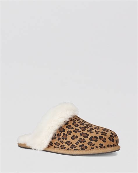 leopard print house shoes ugg 174 australia slippers scuffette leopard print bloomingdale s