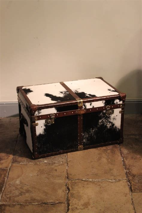 bespoke cowhide trunk coffee table trunks leather