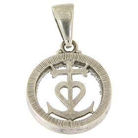 Carita S2 medaglietta in argento 925 e zirconi simbolo fede