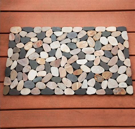 Pebble Bath Rug Riverstone River Doormat Door Bathroom Outdoor Bathmat Bath Mat Pebble Rug Ebay