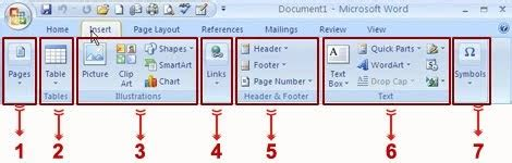 Fungsi Tab Design Pada Header Dan Footer Tools | mengenal fungsi icon tab insert pada microsoft word 2007