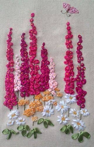 Ribbon Embroidery Flower Garden Try As Paper Craft Children Gardens Ribbon And Paper
