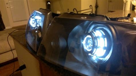 custom projector retrofit headlights ford  forum community  ford truck fans