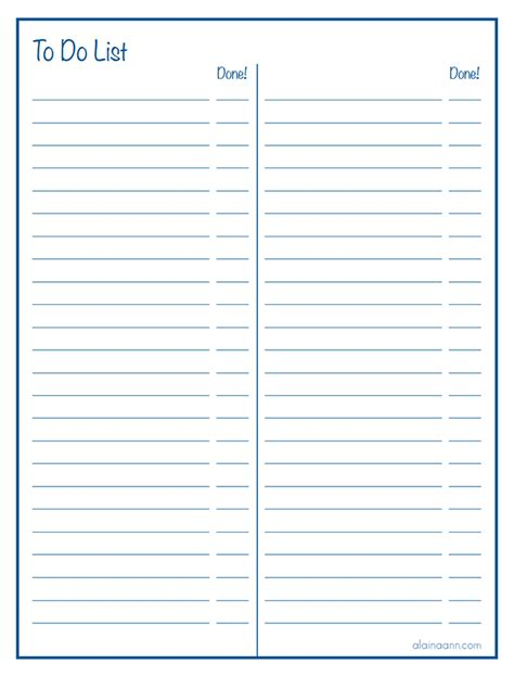 printable paper with columns lined two column to do list free printable organized