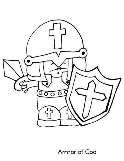 armor of god coloring pages coloring home