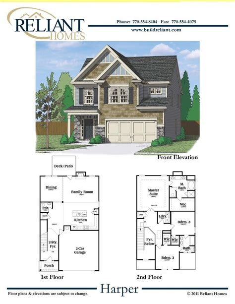 Dream Home Plan Reliant Homes The Harper Plan Floor Plans Homes