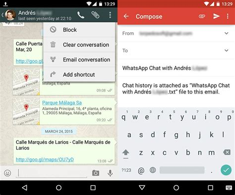 tutorial whatsapp file sender how to send whatsapp chats by email