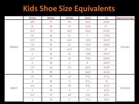 Closet Size Guide by Qatique Closet Childrens Shoe Size Chart