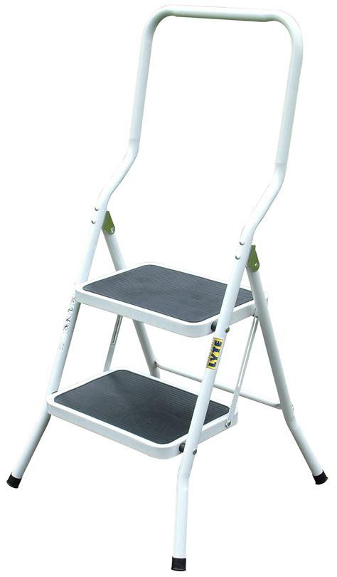 Lightweight 2 Step Stool by Lyte Lightweight Squared 2 Tread Metal Step Stool