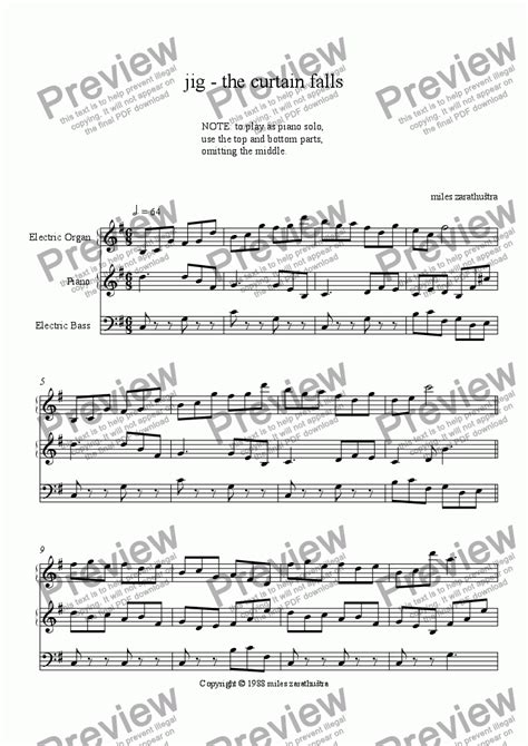 the curtain falls sheet music the curtain falls sheet music integralbook com