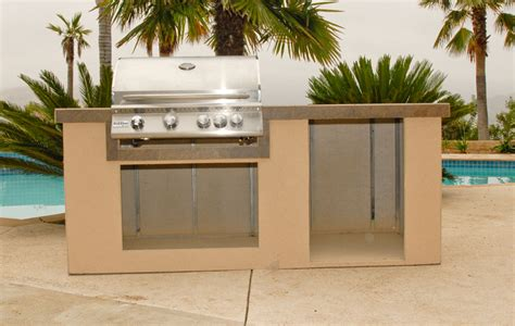 outdoor kitchen island kit oxbox universal cabinets