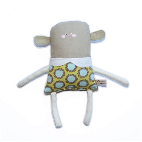 handmade doll fabric doll rag doll blue lime pastels