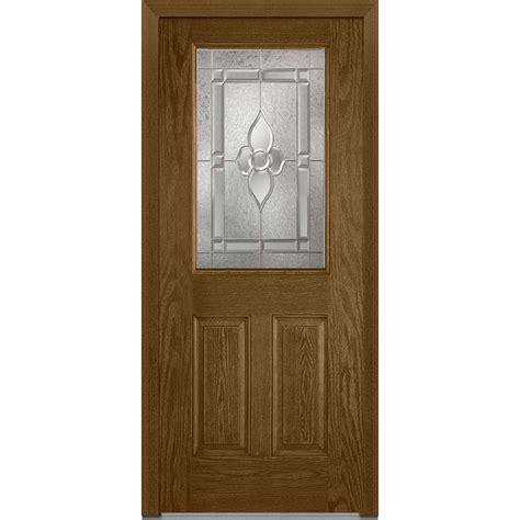 36 X 78 Exterior Door Milliken Millwork 36 In X 80 In Master Nouveau Left 1 2 Lite 2 Panel Classic Stained