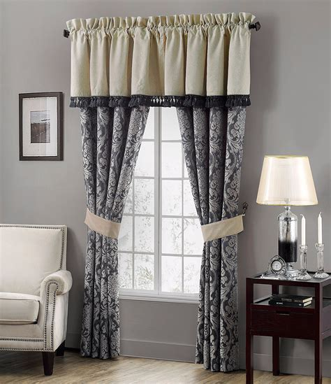 dillards drapes waterford sinclair distressed damask window treatments