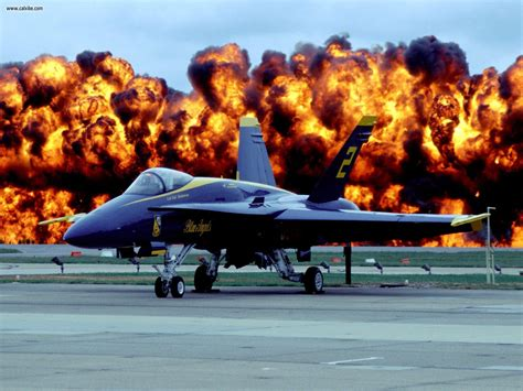 aircraft planes fire power  blue angel  picture