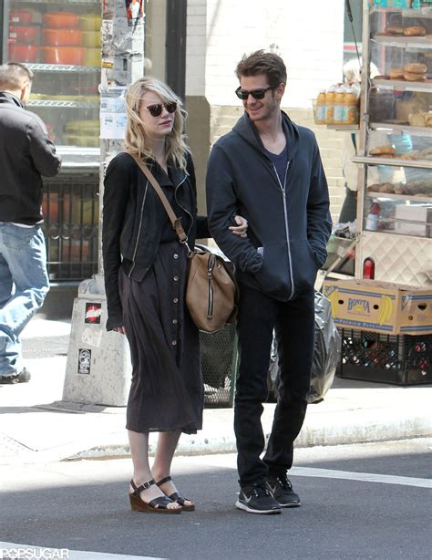 emma stone partner andrew garfield looked over at his girlfriend emma stone