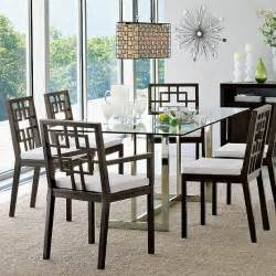 hicks glass top dining table modern dining tables by