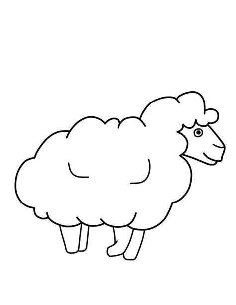 sheep outline coloring page sheep outline drawing