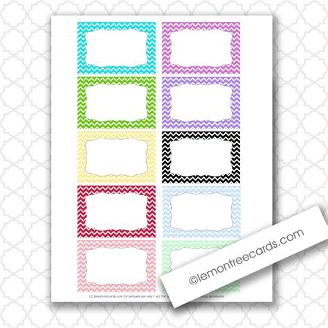 printable blank note cards lemon tree cards blog freebie friday tiny chevron note