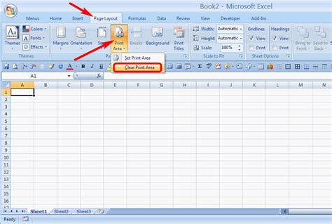 excel layout tab layout of a excel worksheet can t print the entire
