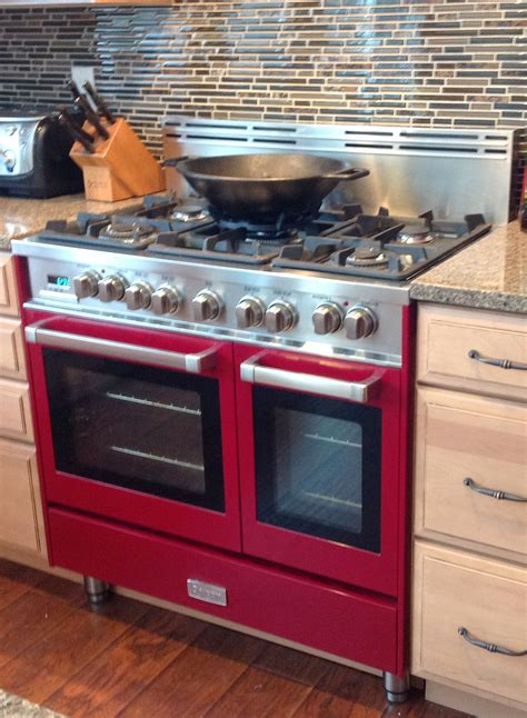 Oven Verona verona 36 inch oven range in burgundy center ny verona verona