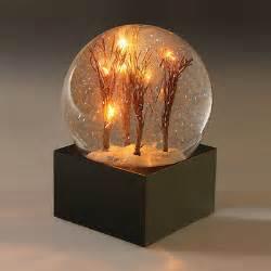 light up snow globe decorative water snow globe light up led tree branches