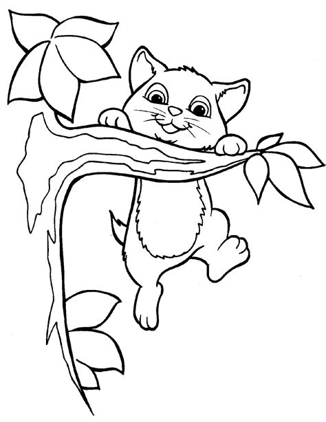 cat with kittens coloring page free printable kitten coloring pages for kids best