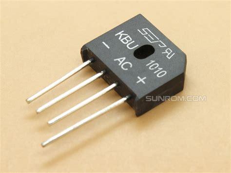a diode bridge kbu1010 10a diode bridge 4964 sunrom electronics technologies