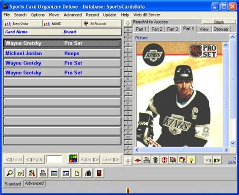 baseball card database template software tour sports card software for sport card collectors