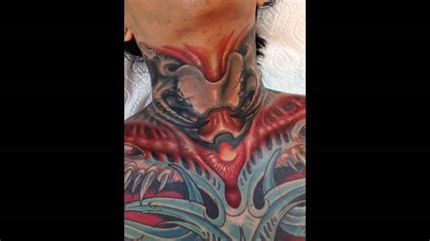 what is the tattoo on zero neck aiden full neck bio organic tattoo youtube