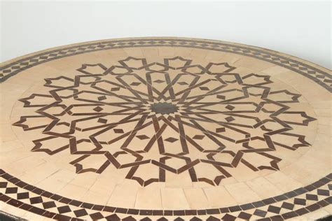 Mosaic L Base by Moroccan Mosaic Outdoor Tile Table On Iron Base 47