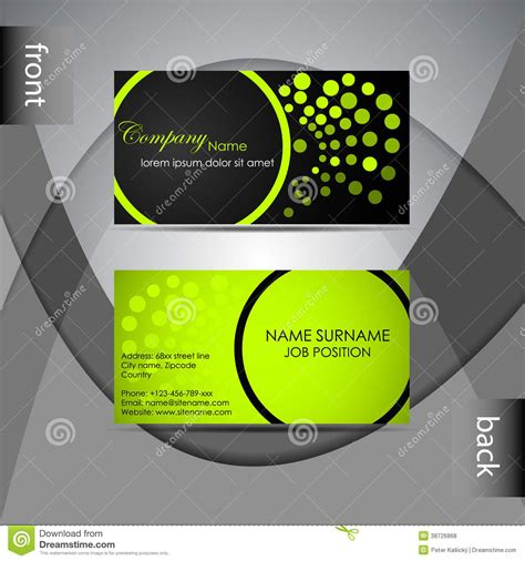 business card design presentation template business card template or visiting card set royalty free