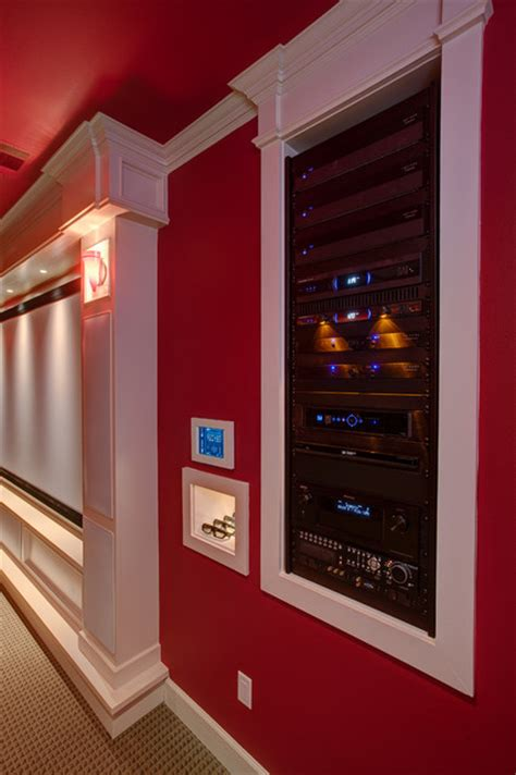 home theater equipment rack traditional  rock