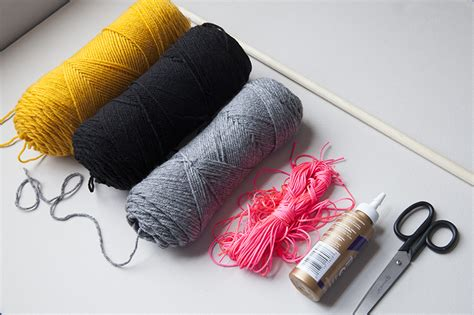 String Materials - yarn banner diy creativebug