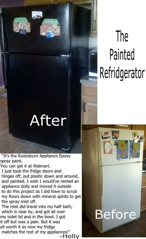 painted fridge i am going to do this but in crafts vintage colors