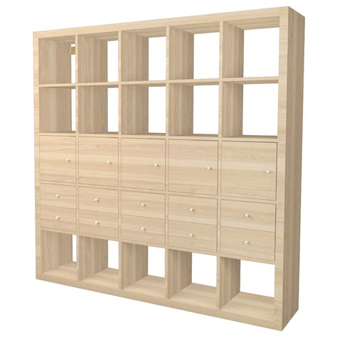 libreria kallax kallax shelf with oak effect accessories with