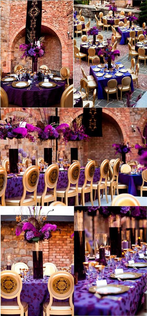 wedding inspiration stunning purple gold decor the magazine