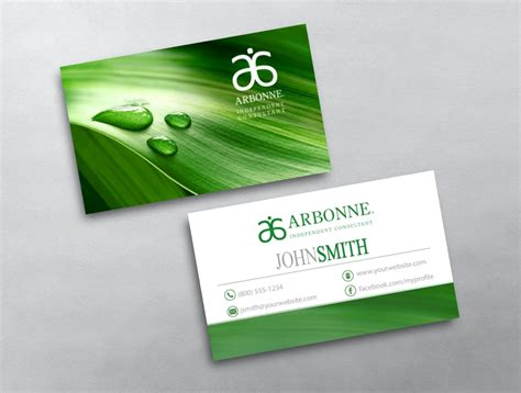 arbonne business cards template arbonne business card 18