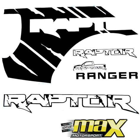 ford raptor logo ford ranger raptor sticker kit style a rap001b