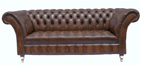 the real chesterfield sofa chesterfield 3 seater highgrove leather sofa antique brown