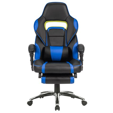 reclining gaming chairs executive racing gaming chair high back reclining faux