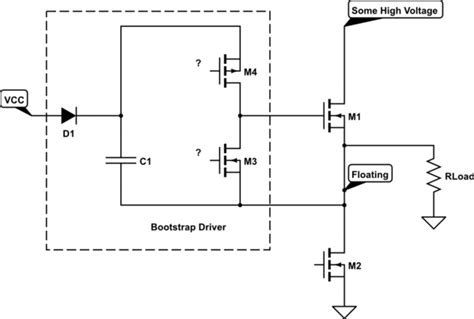 bootstrap transistor driver gate driving bootstrap circuit for high side mosfet driver electrical engineering stack exchange