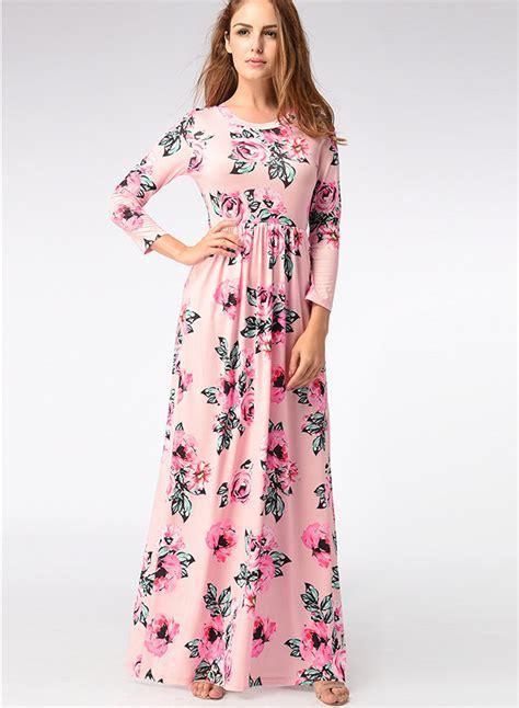 Sleeve Printed Dress printed formal dress with sleeves www imgkid the