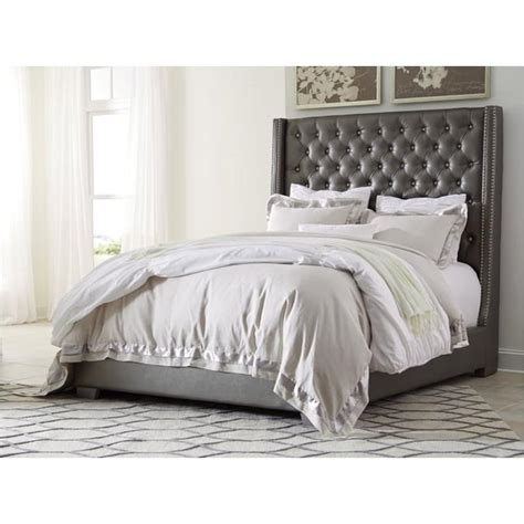 Coralayne Silver Bedroom Set by B650 77 Furniture Upholstered Tufted Bed